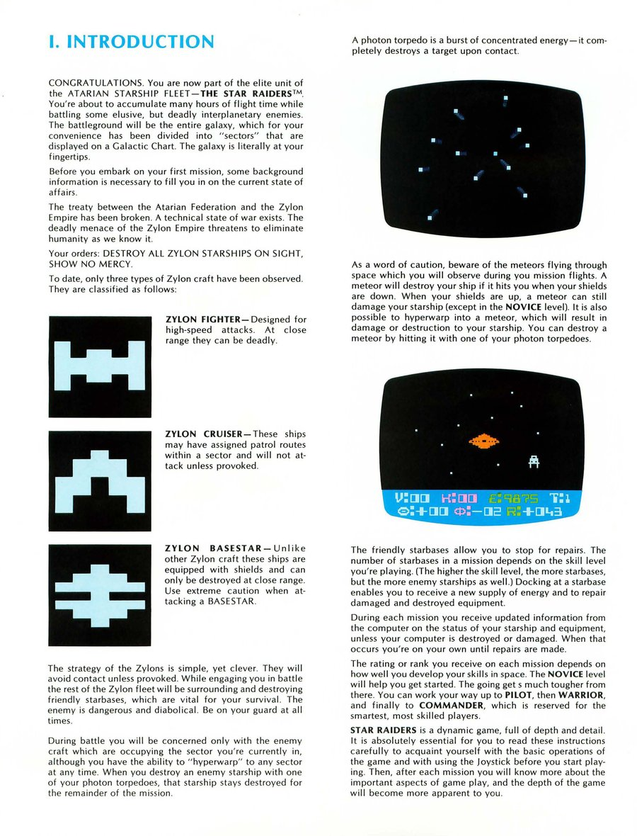 Star Raiders Atari 400/800