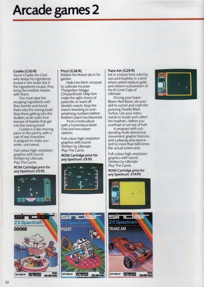 ZX Spectrum Software Catalogue January 1984