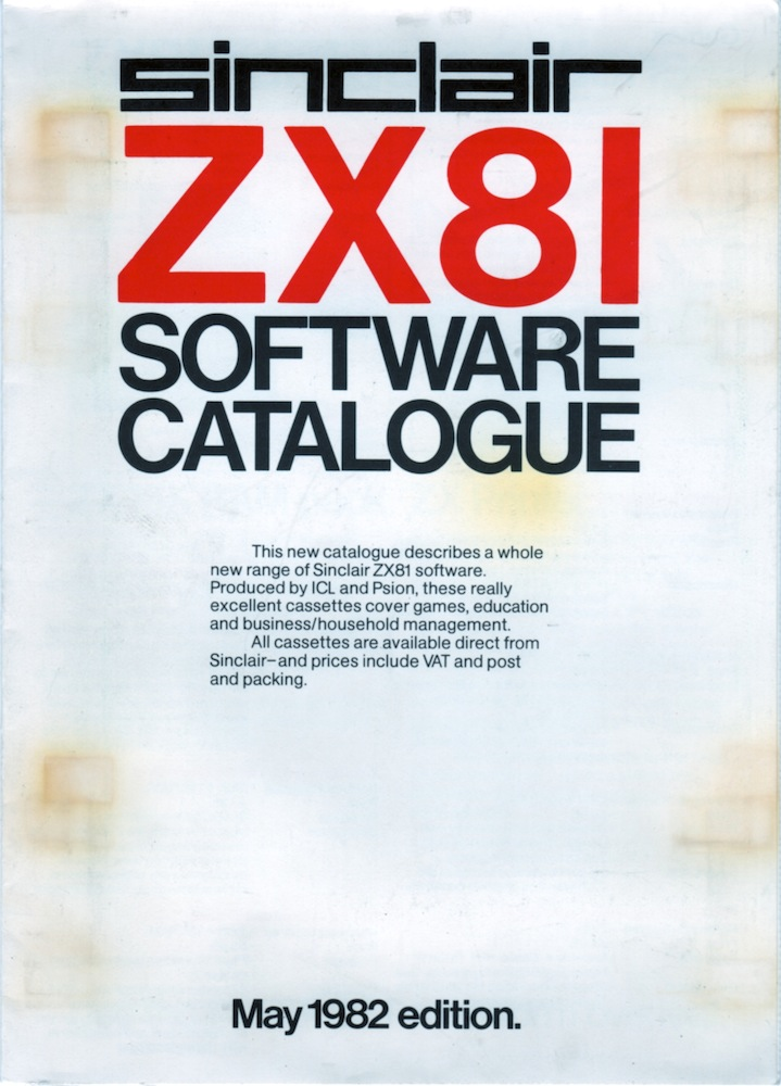 ZX81 Software Catalogue May 1982