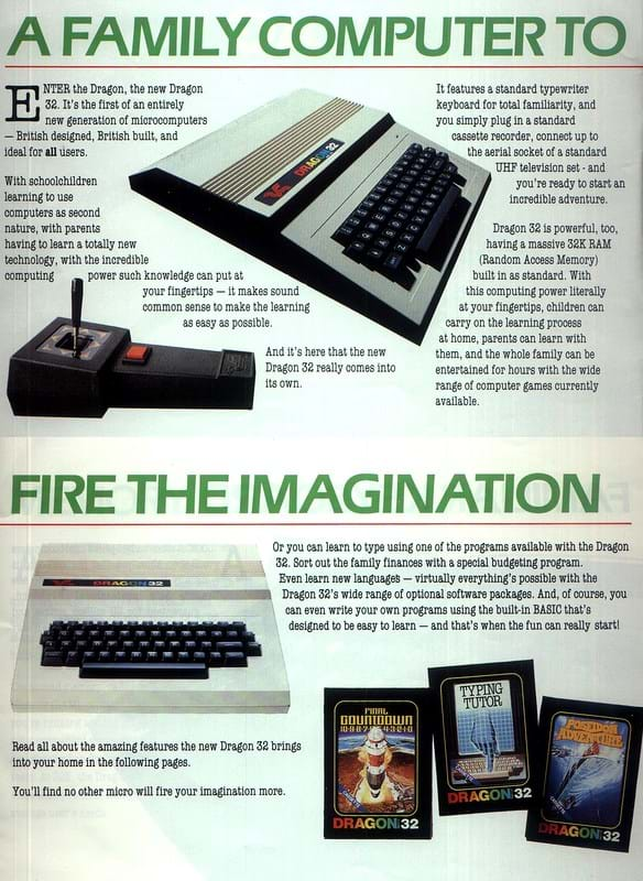 Dragon 32 Advert