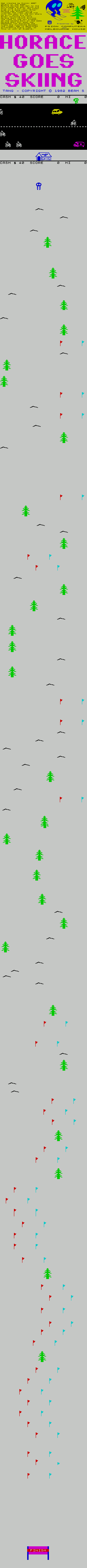 Horace Goes Skiing Game Map