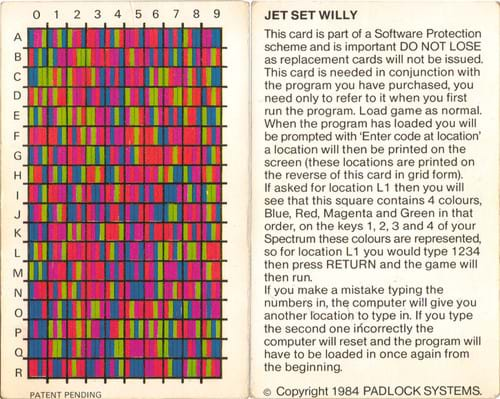Jet Set Willy Instructions